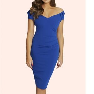 Cassidy Cobalt Ruched Bodycon Dress